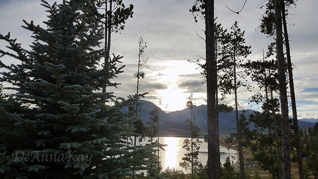 Peaceful…Sun setting at Lake Dillon